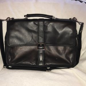 Coach all leather briefcase